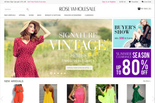 ROSE Wholesale website
