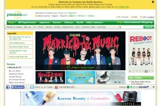YesAsia website