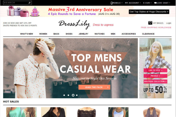 dresslily website