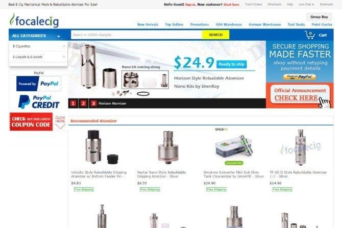 focalecig website