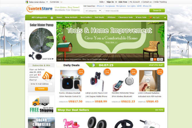 suntekstore website