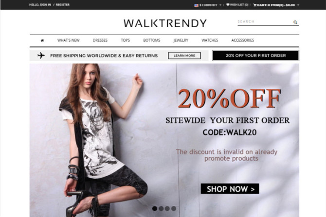 walktrendy website